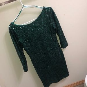 Gianni Bini FAN FAVES Green Sequin Dress